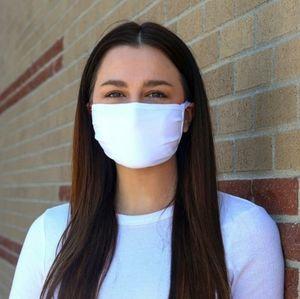 4 New Handmade White Cotton Reusable Face Masks